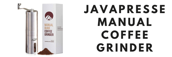 JavaPresse Manual Coffee Grinder Header